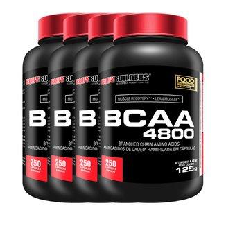 Kit 4x BCAA 4800 250caps - Bodybuilders