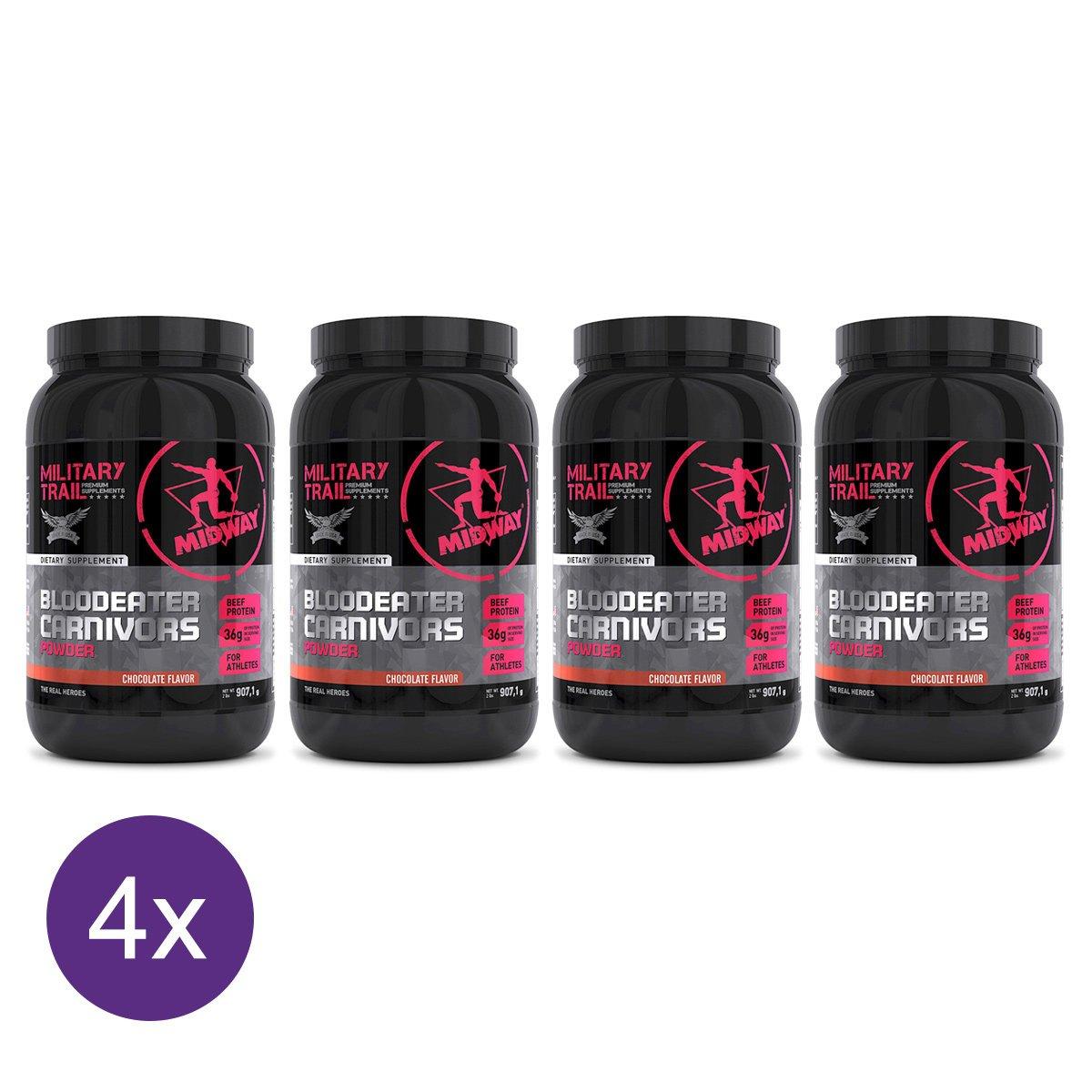 015ab49b2 Kit 4x Blood Eater Carnivors - Proteína da Carne com creatina e ferro 907g  Military Trail - Compre Agora