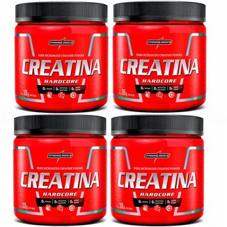 Kit 4x Creatina Hardcore 300g  Integralmédica