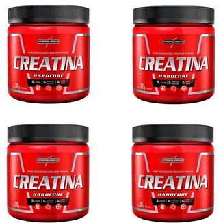 Kit 4x Creatina Hardcore Reload 300g IntegralMédica