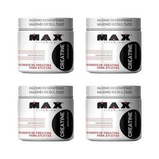 Kit 4X Creatine - 300g - Max Titanium