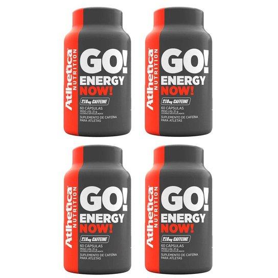 Kit 4x Energy Now Cafeína 60 Cápsulas - Atlhetica -