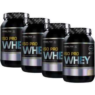 Kit 4x Iso Pro Whey 900g - Baunilha - Probiótica