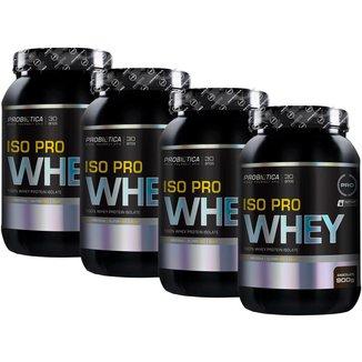 Kit 4x Iso Pro Whey 900g - Chocolate - Probiótica