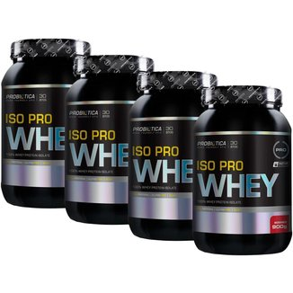 Kit 4x Iso Pro Whey 900g - Morango - Probiótica