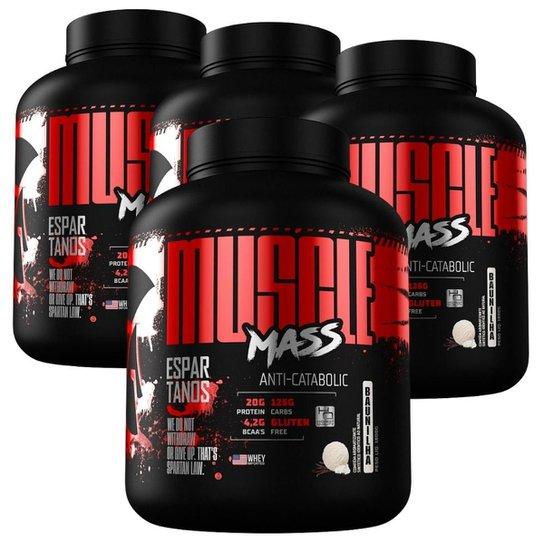 Kit  4x Muscle Mass Hipercalórico - Espartanos -