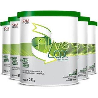 Kit 5 Alive Lax natural a base de fibras Chá mais 250g