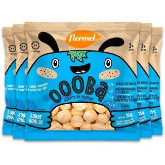 Kit 5 Biscoito de Polvilho Infantil Queijo Oooba Flormel 25g