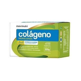 Kit 5 Caixas Colágeno Maxinutri - 30 sachês de 10g - Sabor Uva Verde