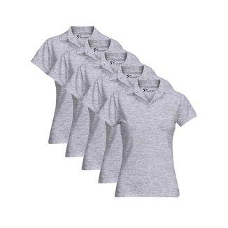 Kit 5 Camisa Gola Polo Feminina