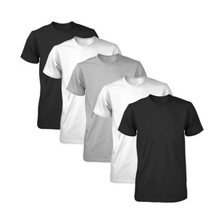 Kit 5 Camisetas Básicas Fitness Masculina Colors Light