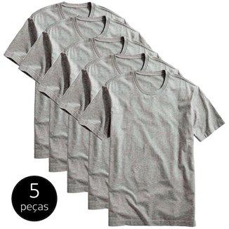 Kit 5 Camisetas Part. B Básicas 100% Algodão
