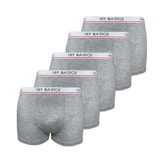 Kit 5 Cuecas Boxers Infantil Box Algodão Cotton Conforto