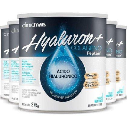 Kit 5 Hyaluron+ Colágeno com Ácido Hialurônico ClinicMAIS 275g