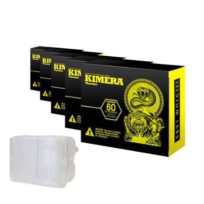 Kit 5 Kimera + Porta Cápsula - Iridium Labs - 60 Cáps - Unissex