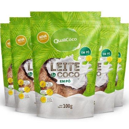 Kit 5 Leite de coco em pó Qualicôco 100g