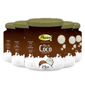 Kit 5 Óleo de Coco 200ml Pazze