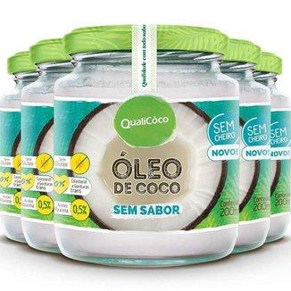 Kit 5 Óleo de coco sem sabor Qualicôco 200ml