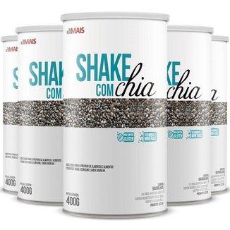 Kit 5 Shake com chia Chá Mais 400g Baunilha