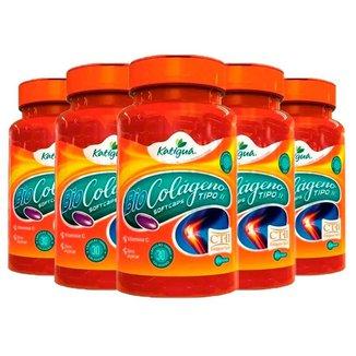 Kit 5 x Colágeno Tipo II com Vitamina C   Katigua 30 Caps.