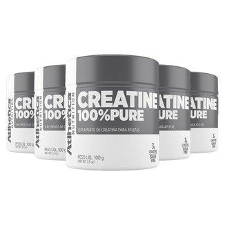Kit 5 x Creatina 100% Pure   Atlhetica 100 Gramas