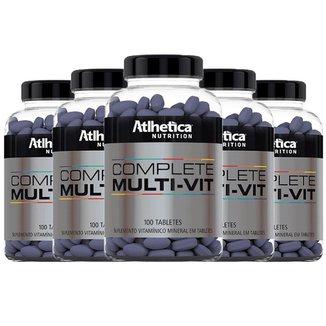Kit 5 x Multivitamínico Complete   Athletica 100 Tabletes