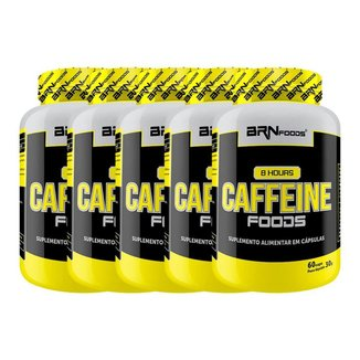 Kit 5x 8 hours caffeine foods 60caps - BRNFOODS