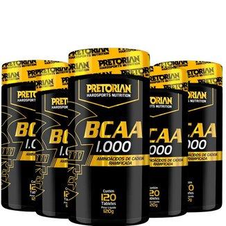 Kit 5x BCAA 1000 120 tabs  Pretorian