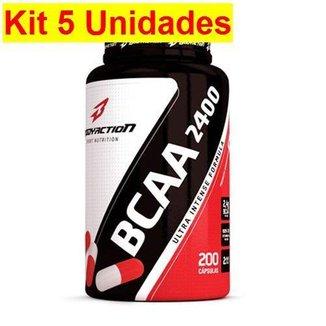 Kit 5X BCAA 2400 - 200 Cápsulas - BodyAction