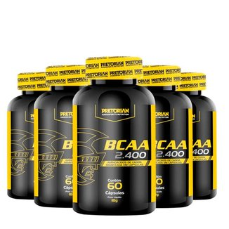 Kit 5x BCAA 2400 60 caps - Pretorian