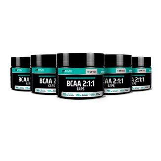 Kit 5x BCAA 2:1:1 Caps - 120 Cápsulas - Stark Supplements