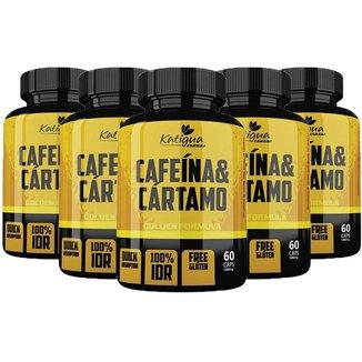 kit 5x Cafeína e Cártamo 60 Cápsulas  Katigua Sport