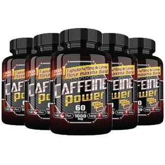 Kit 5x Caffeine Power (Cafeína) Katigua Sport Cápsulas