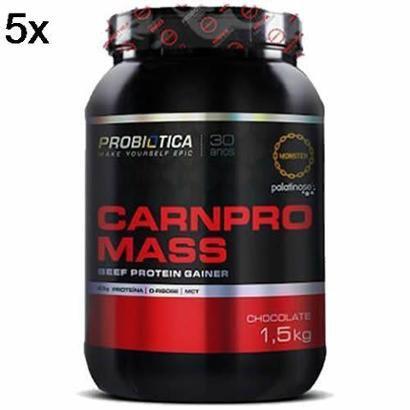 Kit 5X Carnpro Mass Probiótica – 1500g