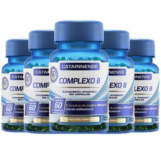 Kit 5x Complexo B 60 cápsulas - Catarinense