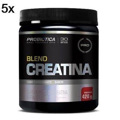 Kit 5X Creatina Blend Probiotica – 420g