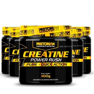 Kit 5x Creatina Power Rush 300g - Pretorian