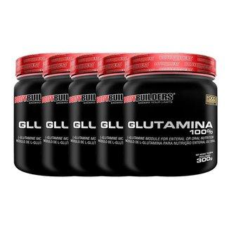 Kit 5x Glutamina 100% 300g - Bodybuilders
