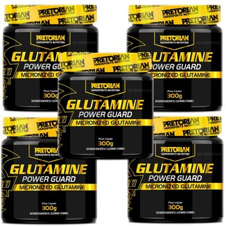 Kit 5x Glutamina Com Vitamina C 300g Pretorian