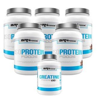 Kit 5X Iso Protein 900G + Creatina 300G - Brn Foods