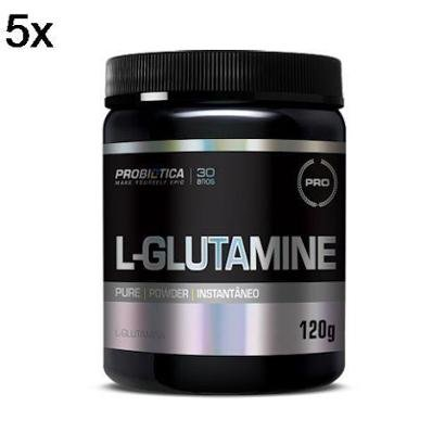 Kit 5X L-Glutamine Probiótica – 120g