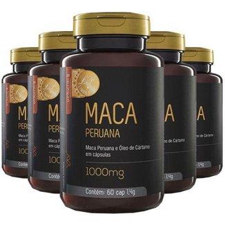 Kit 5x Maca Peruana e Óleo de Cártamo  60 Cápsulas  Upnutri Prime