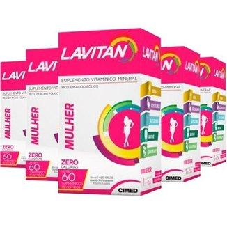 Kit  5X Polivitamínico -60 Cáps Lavitan Cimed