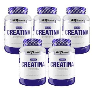 KIT 5x PREMIUM Creatina 100g - BRN Foods