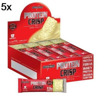 Kit 5X Protein Crisp Bar IntegralMédica – 12 Unids 13g