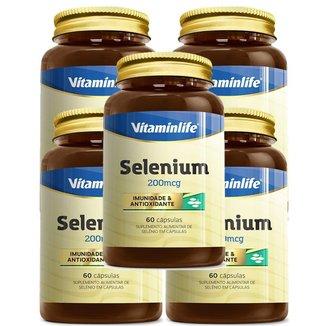 Kit 5X Selenium - 60 Cápsulas - Vitaminlife