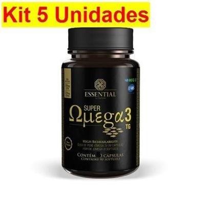 Kit 5X Super Ômega 3 TG – 120 Cápsulas 500mg – Essential Nutrition