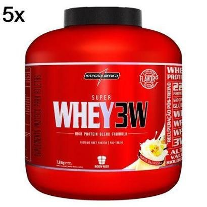 Kit 5X Super Whey 3W IntegralMédica – 1800g