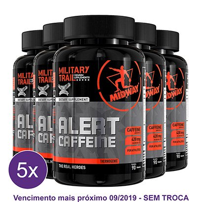 Kit 5x Termogênico Military Trail Alert Cafeína 90 Caps – Midway USA
