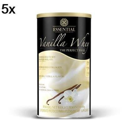 Kit 5X Vanilla Whey Essential Nutrition – 450g